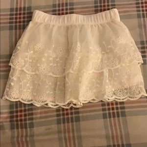 Carters White Lace Skirt